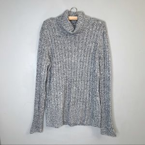 New York and Co turtleneck silver fleck sweater xl